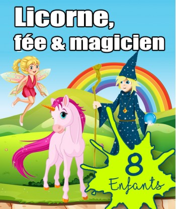 Box Licorne 8 enfants